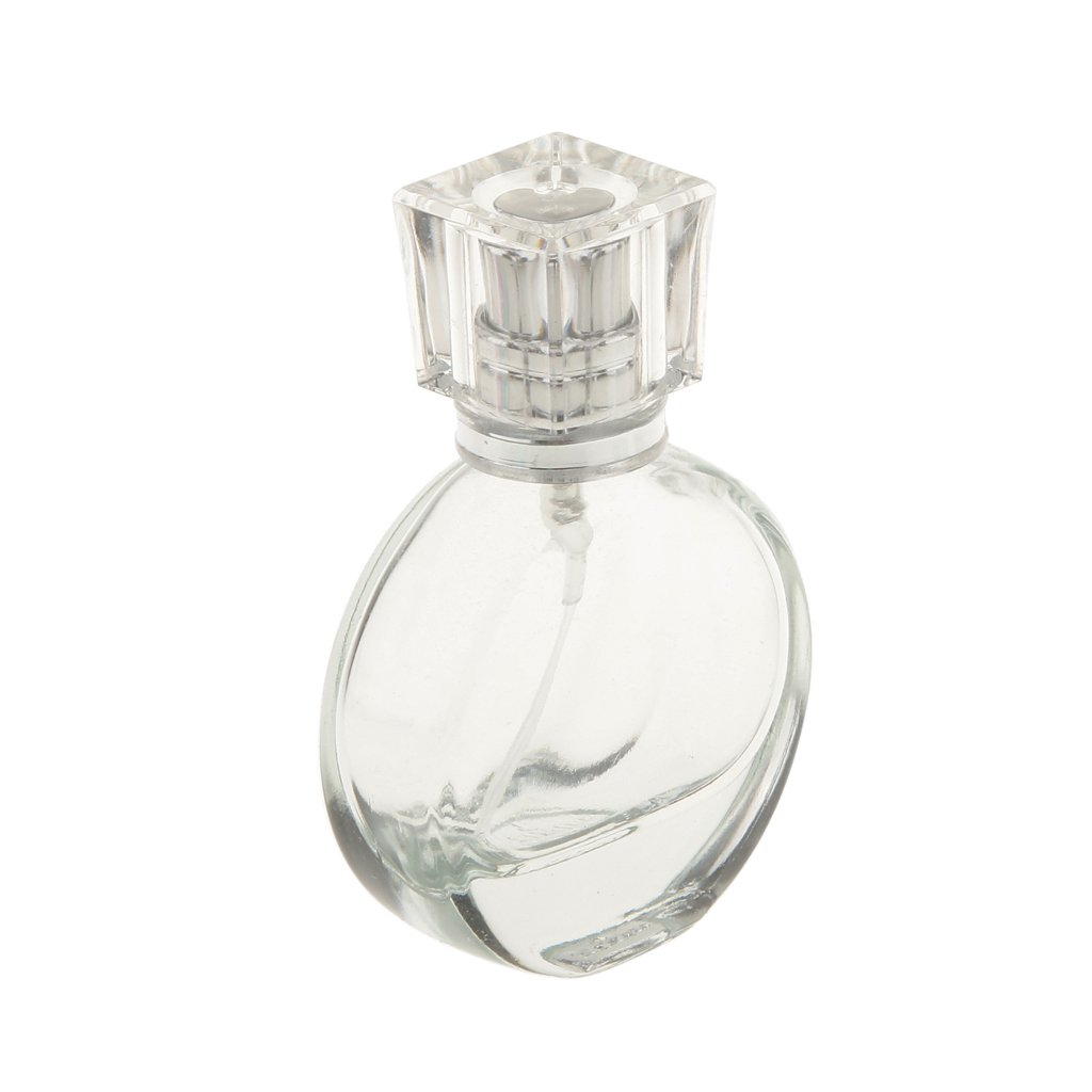 Accesorios Decorativos Botella Perfume Cristal de Alto Grado Atomizador Aerosol Retornables - Redondo, 25ml: Amazon.es: Hogar