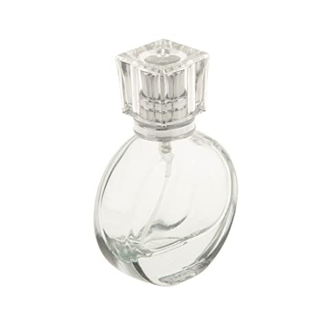 Accesorios Decorativos Botella Perfume Cristal de Alto Grado Atomizador Aerosol Retornables - Redondo, 25ml