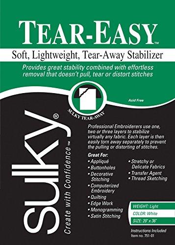 Sulky Of America Tear Easy Tear-Away Stablizer, 20