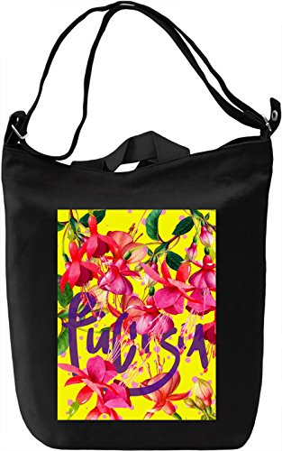 Fuchsia Borsa Giornaliera Canvas Canvas Day Bag| 100% Premium Cotton Canvas| DTG Printing|
