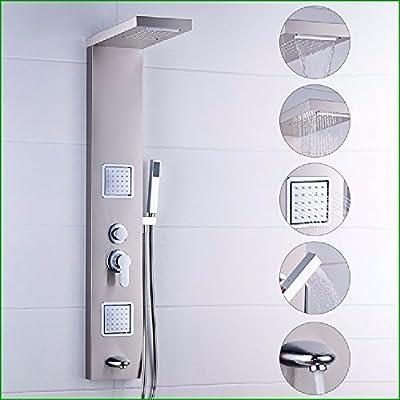 WAWZJ Set de ducha 304 Tipo Split Paquete De Dibujo Juegos De Ducha, Mampara De Ducha, Ducha De Cinco Interruptor: Amazon.es: Hogar