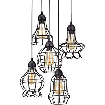 Unitary Brand Rustic Barn Metal Chandelier Max 200w with 5 Lights ...