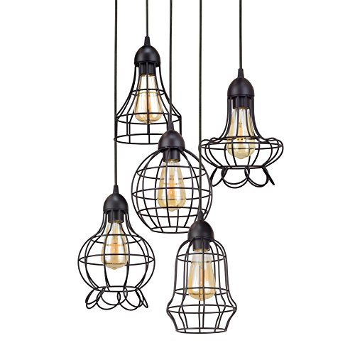 5 Cage Pendant Light