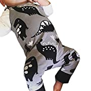 FEITONG Newborn Infant Baby Boys Girls Cartoon Dinosaur Print Romper Jumpsuit Outfits