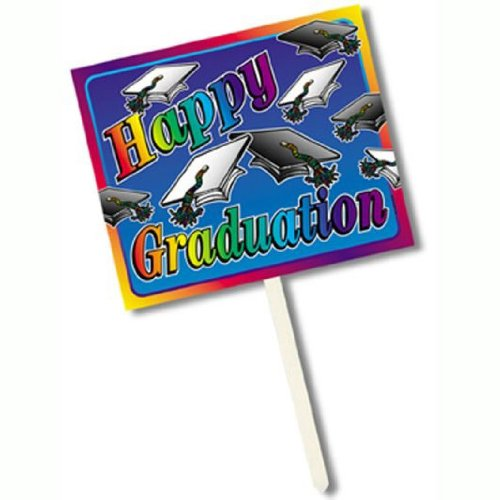 Beistle Happy Graduateuation Yard Sign, 12-Inch by 15-Inch -