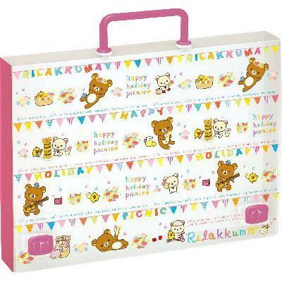 San-x Rilakkuma Plastic Briefcase Picnic Series