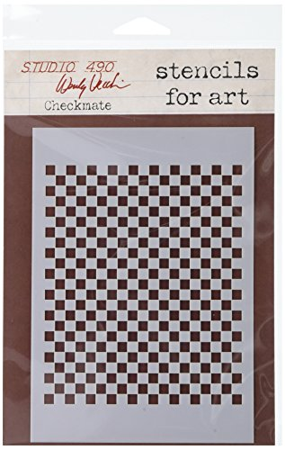 Stampers Anonymous Wendy Vecchi Studio Stencil Collection, 6.5-Inch by 4.5-Inch, - Painting Checkmate