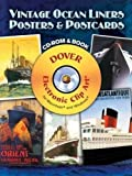 Vintage Ocean Liners Posters and Postcards CD-ROM and Book (Dover Electronic Clip Art)