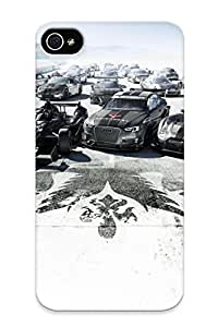 Iphone 4/4s Ikey Case Cover Skin : Premium High Quality Grid Autosport Case(nice Choice For New Year's Day's Gift)