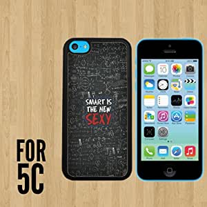 Smart is the new sexy Custom made Case/Cover/skin FOR iPhone 5c -Black - Rubber Case ( Ship From CA)