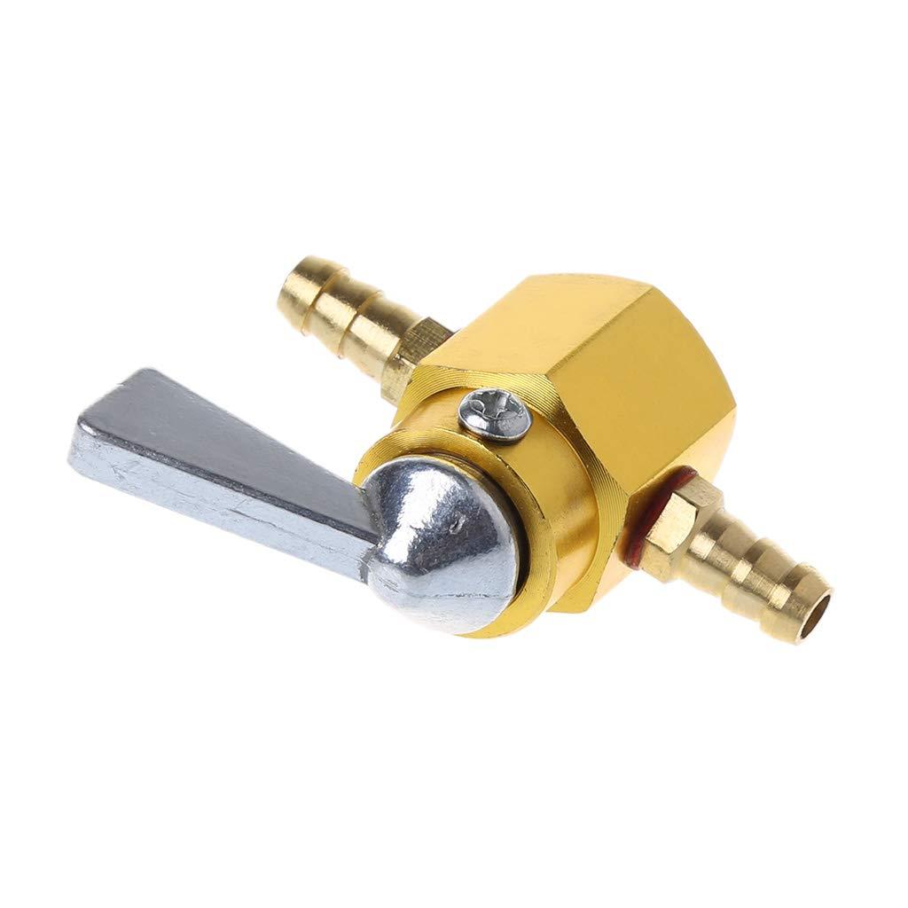 fxco commutatore di carburante Petcock ON-OFF universale di rubinetto di benzina//carburante di 6/mm in linea