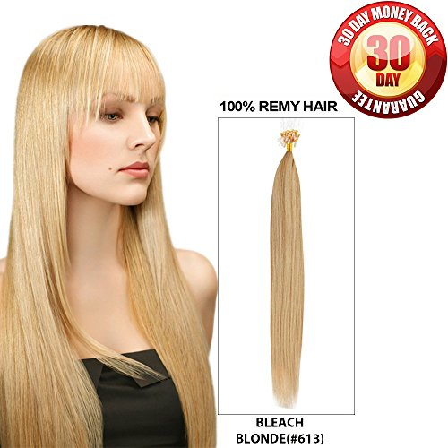 Micro Bead Hair Extensions by BELLAHAIR Micro Loop Link Hair(100 strands 40g 16