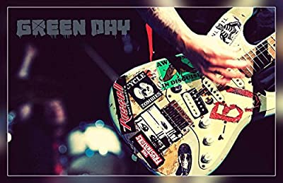 A-ONE POSTERS Green Day Billie Joe Armstrong Guitar Quoted 12 x 18 Inch Poster Print Rolled Wall Decor BY