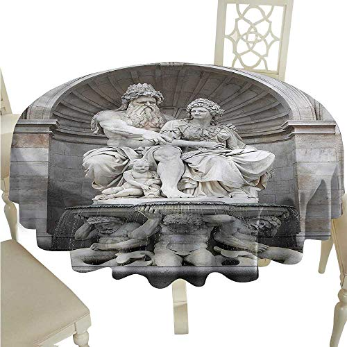 crabee Party Table Cover Sculptures,Attraction in The Vienna,Fabric Print Tablecloth