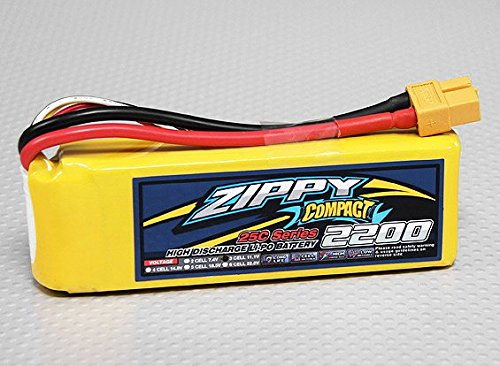 ZIPPY Compact 2200mAh 3S 25C Lipo Pack by Zippy