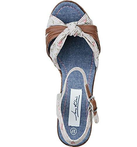 Jane Klain - Zapatos con correa de tobillo Mujer Beige