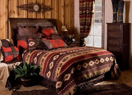 Chocolate Suede King Bedskirt - Cimarron Comforter Set - Queen Size