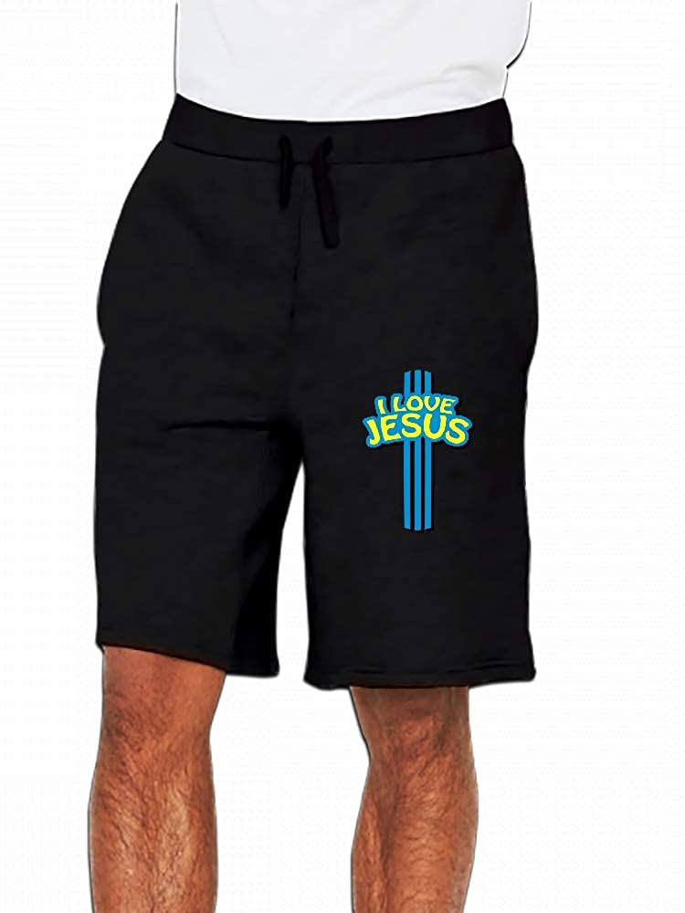 I Love Jesus Mens Casual Short Trouser