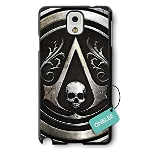 Onelee(TM) - Assassins Creed Logo Black Hard Plastic Samsung Galaxy Note 3 Case & Cover - Black 5