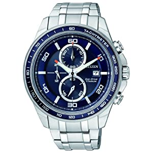 Reloj  cronógrafo Citizen Super Titanium para Hombre,   correa de titanio, Plateado, CA0345-51L 5