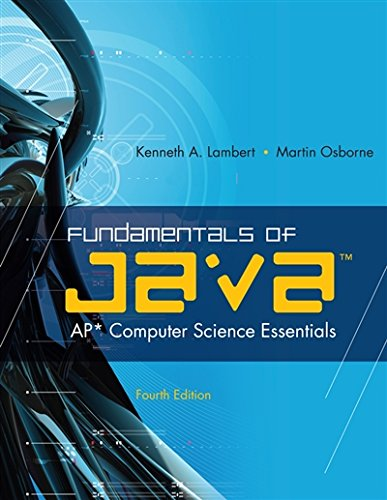 Fundamentals of Java™: AP* Computer Science Essentials by Cengage Learning