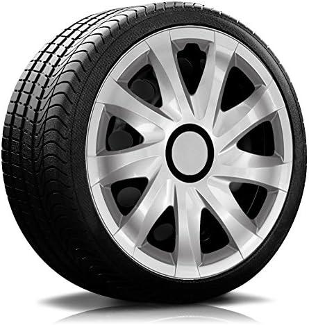 Autoteppich Stylers 14 14 Zoll Radkappen Radblenden Kan Rk Silber Farbe Und Größe Wählbar Auto