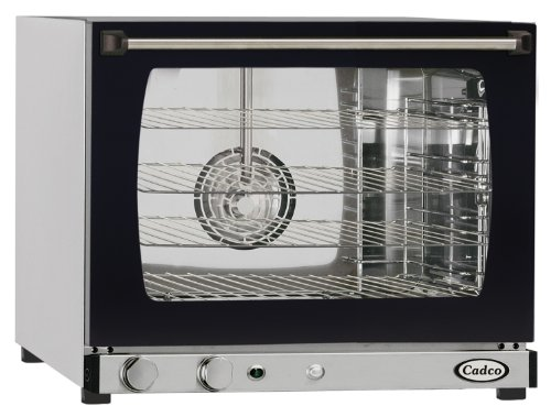 Cadco XAF-133 Half Size Convection Oven with Manual Controls and Humidity, 208-240-Volt/2700-Watt, Stainless/Black