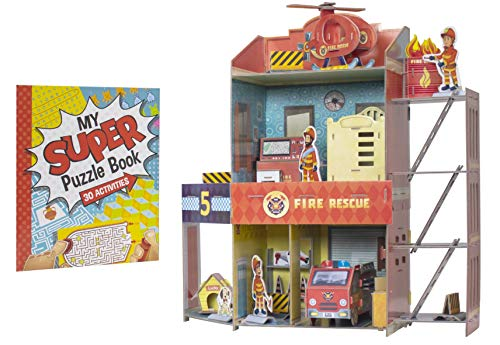 Fire Rescue - My First Firehouse 3-D Puzzle & Activity Book