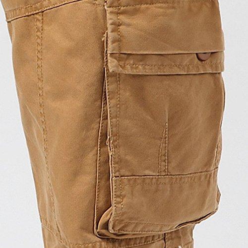 5ce74bacbc8 FEOYA Pantalon Long Cargo Homme en Coton pour Automne - Pantalon Multi  Poches en Plein Air - 4 Couleurs  Amazon.fr  Vêtements et accessoires