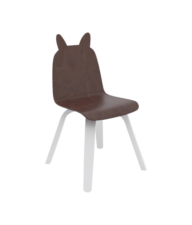 Oeuf Rabbit Play Chairs In Walnut (set Of 2), Walnut/white