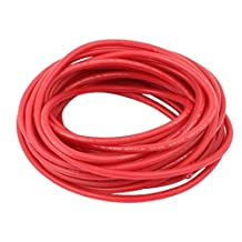 uxcell® 5M 18AWG 10KV Electric Copper Core Flexible Silicone Wire Cable Red for RC