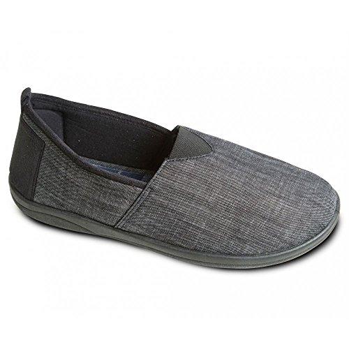 Padders Blake - Zapatillas de estar por casa de sintético para hombre negro