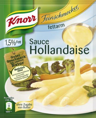 Knorr Feinschmecker Sauce Hollandaise fettarm, 9er Pack (9 x 250 ml)