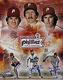 Pete Rose Mike Schmidt Steve Carlton Signed 16x20 Phillies 1980 WS Photo TriStar