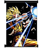 1 X Dragon Ball Z Super Saiyan Goku Anime Fabric Wall Scroll Poster (16x21) Inches