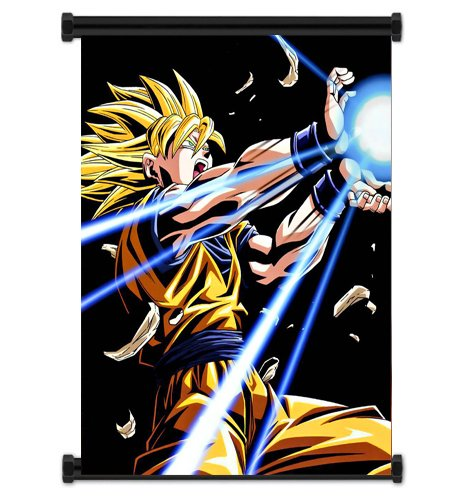 Dragon Ball Z Anime Super Saiyan Goku Fabric Wall Scroll Pos