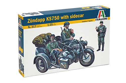 Italeri 1/35 Zundapp Ks750 With Sidecar # 317 - Plastic, used for sale  Delivered anywhere in USA