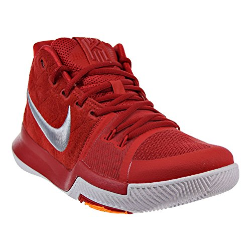 Nike Heren Kyrie 3 Basketbalschoen Universiteit Rood / Wolf Grijs