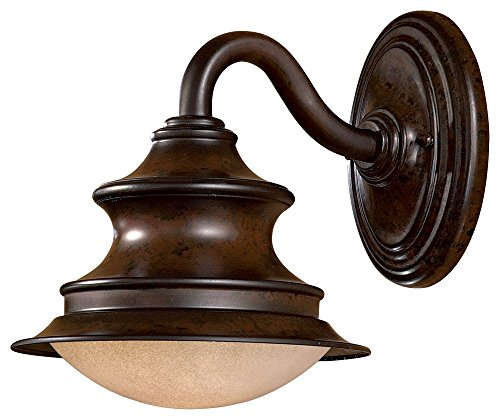 Minka Great Outdoors 8121-A188-PL Vanira Place - One Light Outdoor Wall Mount, Windsor Rust Finish with French Scavo - Place Great Vanira Outdoors