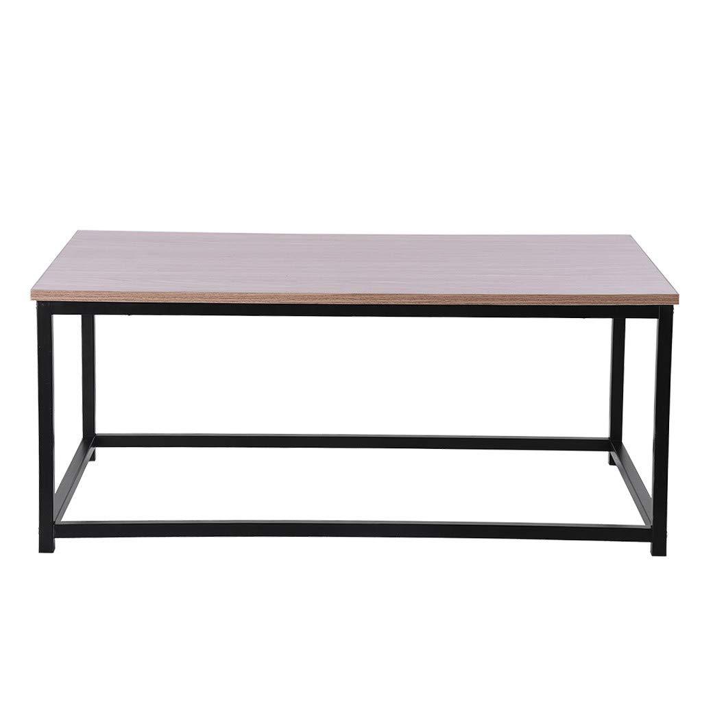 Suesshop Tables, Modern Desk Metal Baking Varnish Coffee Table Rectangle TV Stand Vintage Cocktail End Table Sofa Side Table for Living Room Bedroom