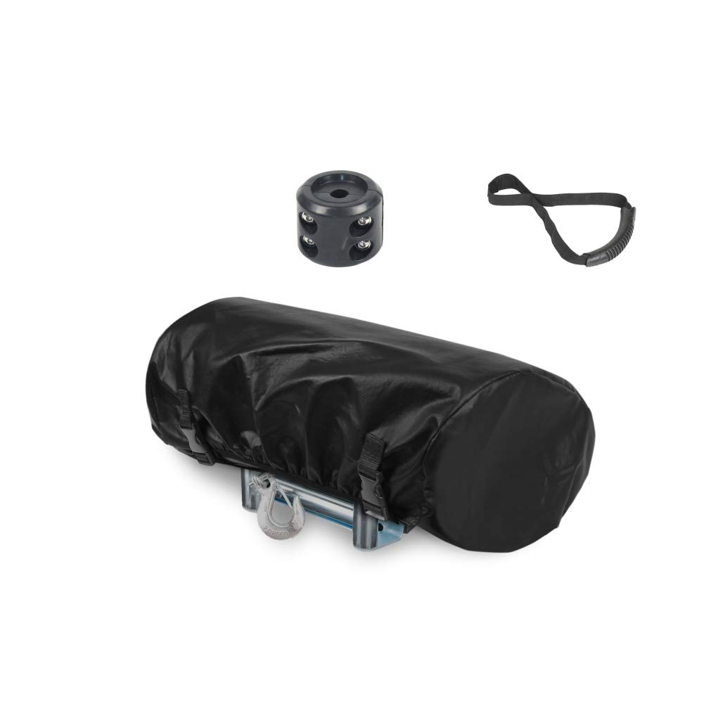 Explore Land 100% Waterproof Universal Winch Cover, Dust Resistant Winches Cover 23.5 x 9.5 x 8 inch, Fits winches up to 17,500 lbs