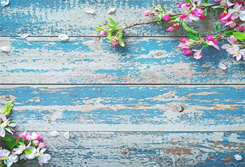 Leyiyi Vintage Blue Wooden Board 7x5ft Photography Background Rustics Mediterranean Distressed Grunge Baby Blue Wooden Broken Textured Wall Backdrop Girl Woman Wedding Lovers Children Portrait Prop