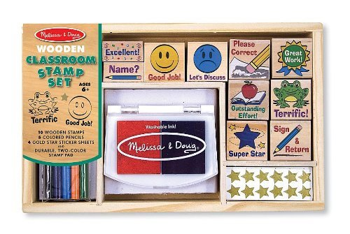 Classroom: Deluxe Wooden Stamp Set + FREE Melissa & Doug Scratch Art Mini-Pad Bundle [24006]