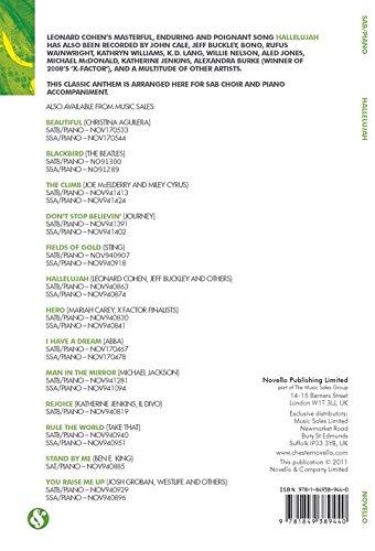 Hallelujah (SAB/Piano) - SAB Piano Accompaniment - Book: Amazon.es ...
