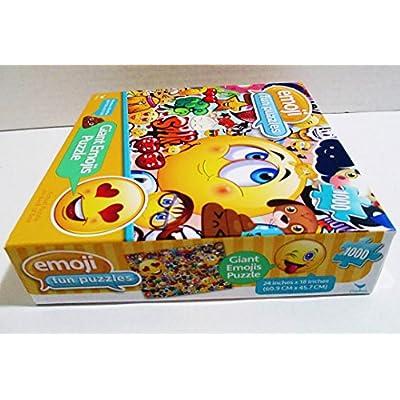 Emoji Fun Puzzle - 1000 Piece - 24 in x 18 in: Toys & Games