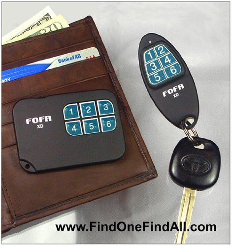 2-Way RF FOFA® Find One Find All® Key Finder and Flat Wallet, Cell Phone Locator, Office Central