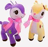 Richy Toys Deer 1Pc Animal Teddy Bear Soft Toy kids birthday Gift Stuffed Soft Plush Toy Love 25 cm (Assorted Color)