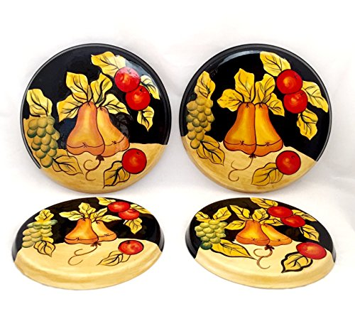Orange Pear Wine (Tuscany Winter Fruit, Set of 4 Stove Covers, 85955 By ACK)