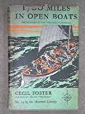 Front cover for the book 1700 Miles in open boats by Cecil Foster