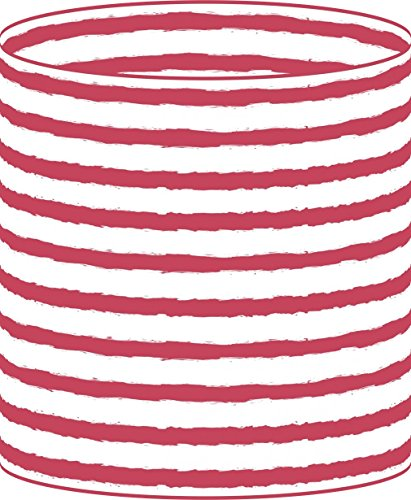 LampPix 10 Inch Custom Printed Table Desk Lamp Shade Nautical Stripe Red (Spider Fitting)